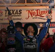 Jimmie Johnson Shoots Pistols at Texas photo